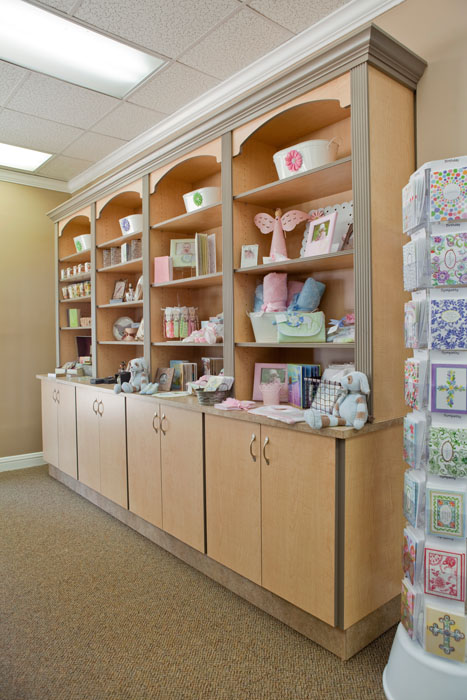 Custom Retail Wooden Display Shelves