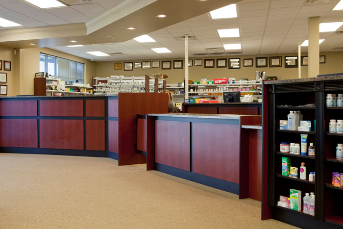 Custom Pharmacy Checkout Counter