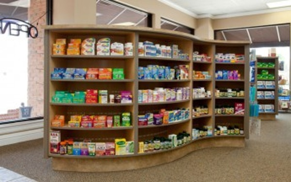 Modern Pharmacy Shelving