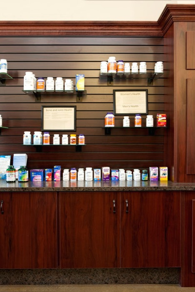 Slatwall Pharmacy Shelving