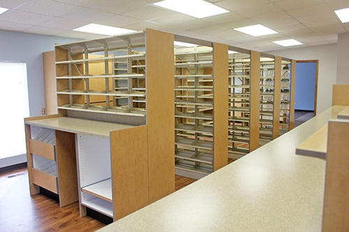 Custom Pharmacy Shelving
