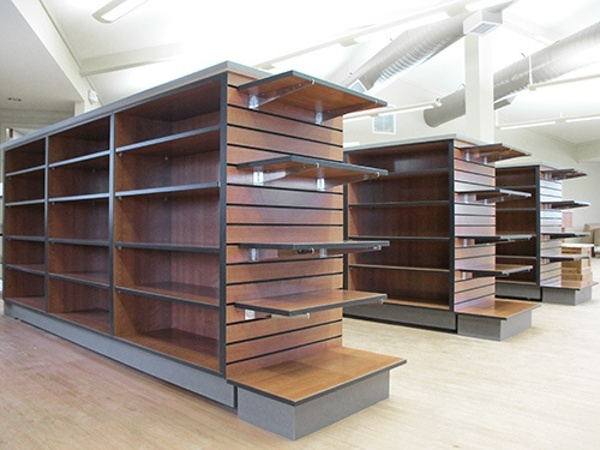 Custom Wood Gondola Shelving