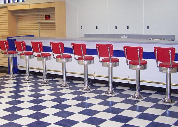 Retro Pharmacy Counter Design