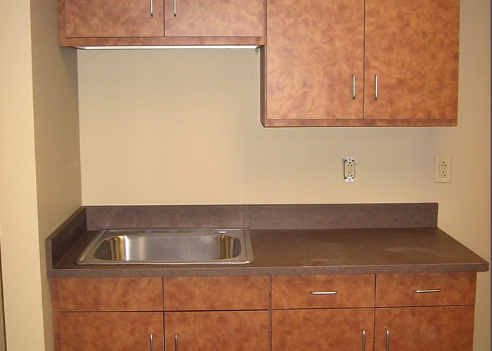 Pharmacy Sink and Cabinets