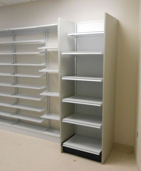 Closed Door Pharmacy Shelving Metal