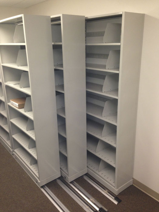 Closed Door Pharmacy Sliding Shelving