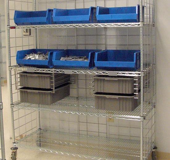 Closed Door Pharmacy Storage Bins