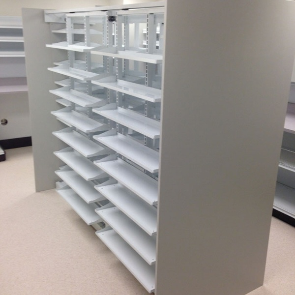 Metal Closed Door Pharmacy Shelving