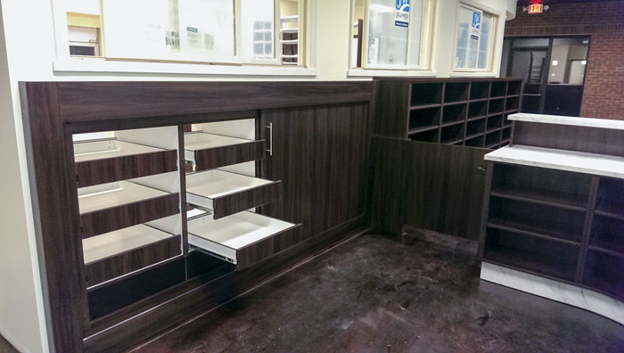 Custom Sliding Will Call Pharmacy Shelving