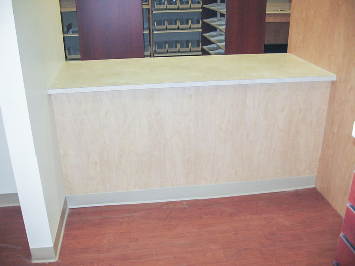 Custom Flat Panel Pharmacy Front Check Out