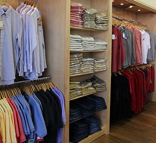 Retail Clothing Shelving