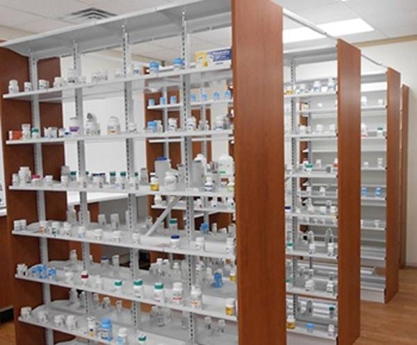 Prescription Drug Storage Shelving Pharmacy