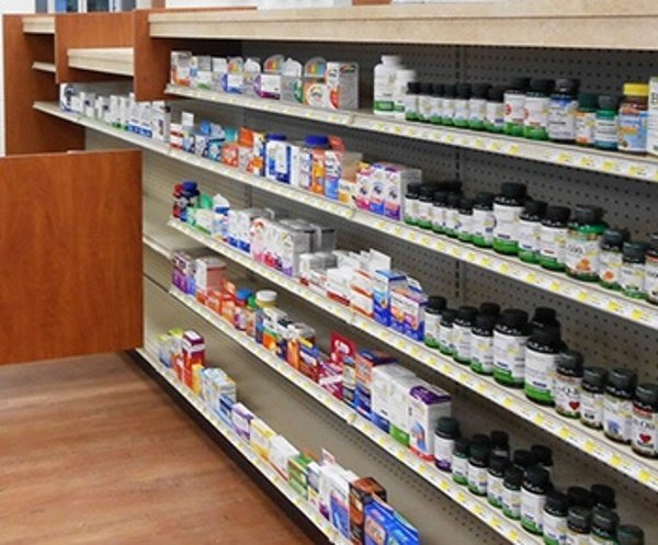 Metal Front Pharmacy Shelving