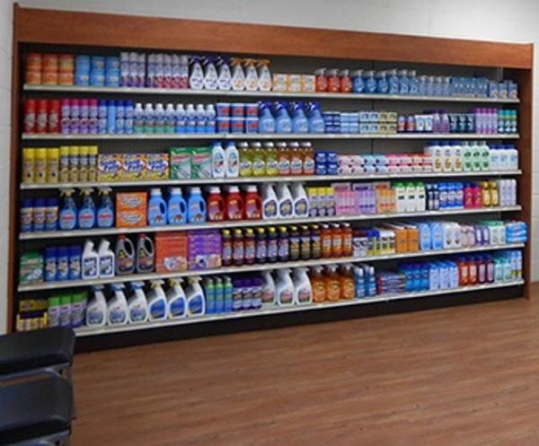 Pharmacy Metal Wall Shelving